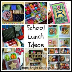 School Lunch Ideas -- great idea for packing school lunches.  Everything from organizing to meal ideas all in one place.