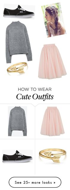 """""""Cute fall outfit"""" by aalleexxiiss88 on Polyvore featuring Ted Baker, Zara, Vans and Bling Jewelry"""