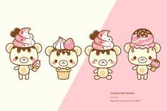 kawaii cute ice cream bear creamii candy yumi bear