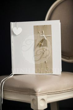Stylish handmade guest book