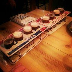 Road trip beer sampler Beer Sampler, Best Pubs, Brew Pub, Bath Caddy, Brewery, Road Trip, Happy, Beer, Road Trips