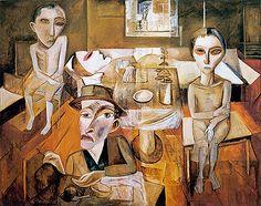 Lasar Segall, Die Krankenstube (The Sickness Room), 1921