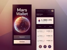 Ui Web, Cool Words, Mars, Cool Designs, Web Design, Design Inspiration, Wallet, App Ui, Mobile Ui