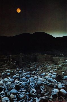 Death/Inca graveyard Photographed by Loren McIntyre, published in National Geographic Imagenes Dark, Sombre, Arte Horror, Marceline, Skull Art, Macabre, Cemetery, National Geographic, Dark Side