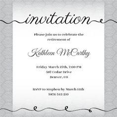 Creative Cursive - Free Printable Party Invitation Template | Greetings Island