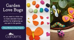 Make adorable insects perfect for brightening up any spot in the garden