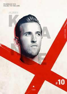 Creative Fifa, World, Cup, Worldcup, and 2018 image ideas & inspiration on Designspiration Kane Harry, Harry Kane England, Football Awards, Football Players, Tottenham Football, England Players, International Soccer, Sports Graphic Design, World Cup Russia 2018