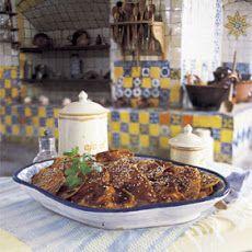 Puebla-Style Fiesta Turkey in Mole Sauce Recipe