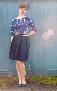 Wedgwood Rock und Ravenna Top, von Straight Sticht Design Straight Stitch, Ravenna, Rock, Stitch Design, Wedgwood, Ballet Skirt, Skirts, Dresses, Fashion