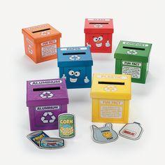 cajas para enseñar reciclaje