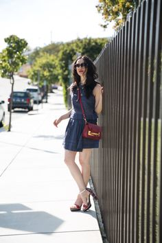 dRA Salma Top and Heather Skirt, Tommy Hilfiger Sandals, Sophie Hulme Crossbody Bag, Lisa Valerie Morgan, Los Angeles Fashion Blogger, Actress and Blogger