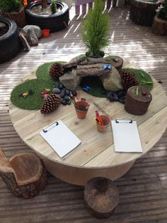 Atelier Area - Insects with natural resources and clipboards