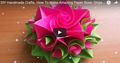 How To Make Amazing Paper Rose. Origami Flowers For Cards