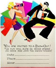 vintage party invitation