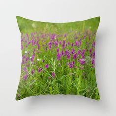 Summer Field 4164 Throw Pillow by metamorphosa - $20.00