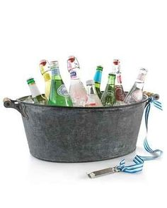 Tie a bottle opener to the handle of the drink tub or cooler and other good party ideas.