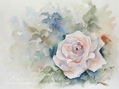 Peppermint Patty's Papercraft: Sunday Watercolors: Soft Rose