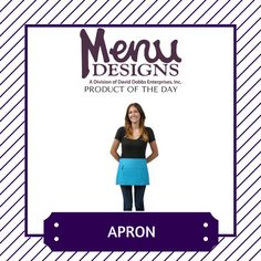 Product of the Day: Aprons! Aprons provide your employees with a handy place to put their checks, pens and more. #productoftheday #menudesigns #menu #design #restaurant #bar #food #drink #hotel #hospitality #business #logo #brand #branding #marketing