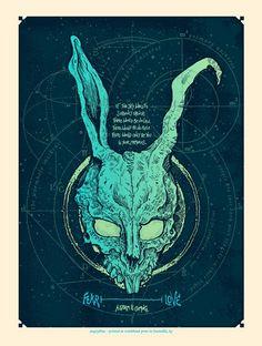 art design jake gyllenhaal Poster donnie darko frank movie poster — Designspiration