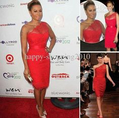 Wholesale Red Lace Celebrity Dress - Buy Mel B Sexy Sheath Lace Celebrity Dress One Shoulder Lace Dance Gown Dhyz 03, $58.99 | DHgate