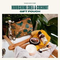 Body Shop At Home, The Body Shop, Bath Caddy, Coconut, Pouch, Tbs, Gifts, Shopping, Presents