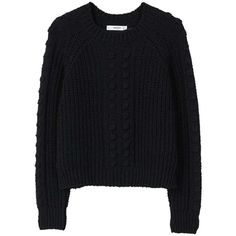 MANGO Chunky-knit sweater (€57) ❤ liked on Polyvore featuring tops, sweaters, chunky knit sweater, mango tops, tassel top, round neck sweater and thick knit sweater