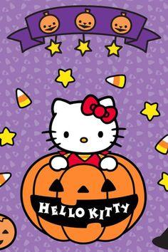 iphone wallpapers background -Halloween hello kitty