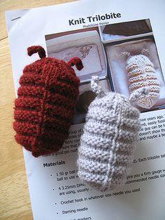 Knit Trilobites by bluepeninsula, via Flickr
