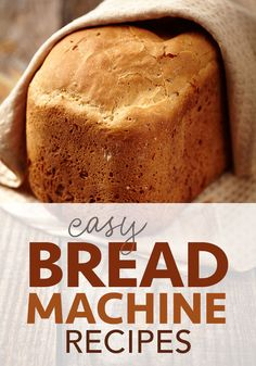 Here are some of the best homemade bread recipes you can make in a bread machine! Once you make these easy homemade bread machine recipes, you won't want store-bought anymore! These recipes are healthier and cheaper than what you buy. Bread Machine Recipes Healthy, Bread Maker Recipes, Easy Bread Recipes, Healthy Recipes, Breadmaker Bread Recipes, Simple Bread Recipe For Bread Machine, Dessert Bread Machine Recipes, White Bread Machine Recipes, Best Bread Machine