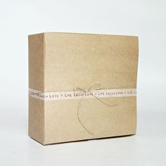 Kraft Natural Gift Box 1 pc.  Lot of 12 boxes    8 x 8 x 3.5 inches    PLEASE NOTE: The washi tape and hemp twine are for demonstration purposes