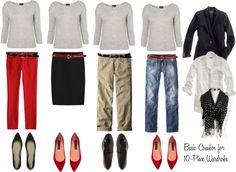 """10 - Piece Wardrobe - Gray Sweater"" by bluehydrangea ❤ liked on Polyvore"