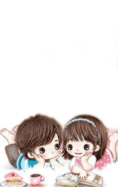 Cute Couple Images, Love Cartoon Couple, Cute Couple Drawings, Bff Drawings, Cute Cartoon Pictures, Cute Love Pictures, Cute Love Cartoons, Anime Love Couple, Cute Anime Couples