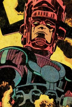 Galactus By Jack Kirby. I love how this superior being looked somehow different every time Kirby drew him. Hq Marvel, Marvel Comics Art, Bd Comics, Marvel Comic Books, Comic Books Art, Marvel Villains, Marvel Characters, Comic Book Artists, Comic Artist