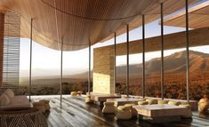 Karoo Wilderness Center, South Africa.  Roof design captures rainwater and uses it to cool the interior.