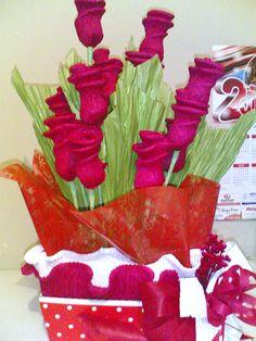 flores de papel crepom - Pesquisa Google