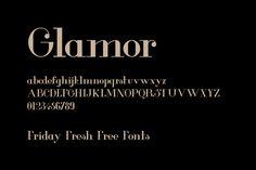 Friday Fresh Free Fonts - Sansman, Glamor, Pilar Typeface