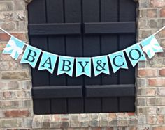 NEW Tiffany Banner~Baby and Co.~Blue and White~Tiffany Baby Shower~Tiffany Blue~Boy~Girl~Bride-To-Be~Birthday~Breakfast at Tiffany's~Audrey