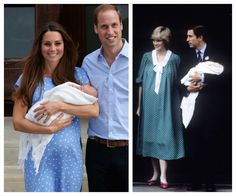 Kate Middleton totally channeled Princess Di with her leaving-the-hospital dress