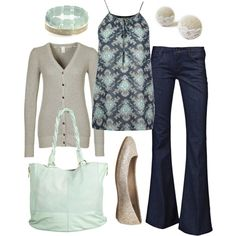 muted mint by htotheb, via Polyvore