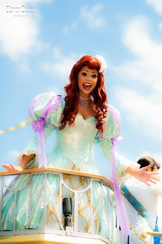 Kevin Clark Photography--Amazing shot of Ariel in the Celebrate a Dream Come True Parade at Magic Kingdom!