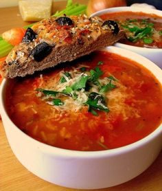 Toskańska zupa fasolowa Soup Recipes, Cooking Recipes, Drink Recipes, Recipies, Kitchen World, Vegan Soups, Polish Recipes, Soups And Stews, Italian Recipes