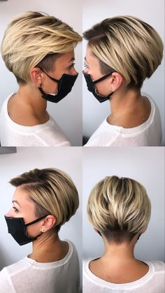Short Hair Undercut, Undercut Women, Short Hair With Undercut, Undercut Pixie Haircut, Shaved Undercut, Short Hair Makeup, Blonde Hair Makeup, Short Hair Styles, Medium Hair Styles
