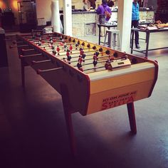 Standard equipment. #foosball