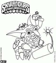 skylanders coloring pages printable games - Skylander Coloring Pages Print