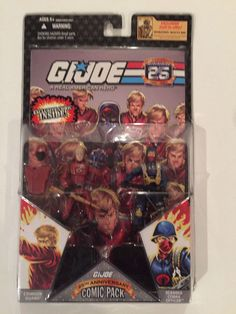 "G.I. Joe Comic Pack Crimson Guard and Scarred Cobra Officer 4"" Action Figures  #Hasbro"