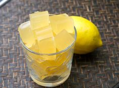 Paleo Lemon Vanilla Gummies (using Great Lakes Gelatin)