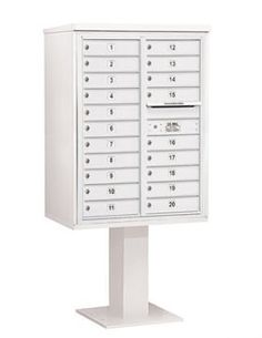 4C Pedestal Mailbox (Includes 26 Inch High Pedestal and Master Commercial Lock) - 11 Door High Unit (69-1/8 Inches) - Double Column - 20 MB1 Doors - White by Salsbury Industries. $1518.82. 4C Pedestal Mailbox (Includes 26 Inch High Pedestal and Master Commercial Lock) - 11 Door High Unit (69-1/8 Inches) - Double Column - 20 MB1 Doors - White - Salsbury Industries - 820996455314. Save 26%!
