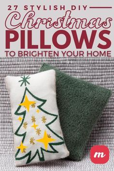 Pillows make every room look good and I can never have too many of them in my home. During the holiday I enjoy making them and even giving them as gifts. We put together a list of 27 DIY Christmas pillows that are sure to make your home look great. You can put a touch or your own style and read how to make an easy no sew pillow or how to paint one. #pillows #Christmas #DIY Christmas Pillow, Diy Christmas, Christmas Decorations, Holiday, Sewing Pillows, Home Look, Touch, Throw Pillows, Make It Yourself