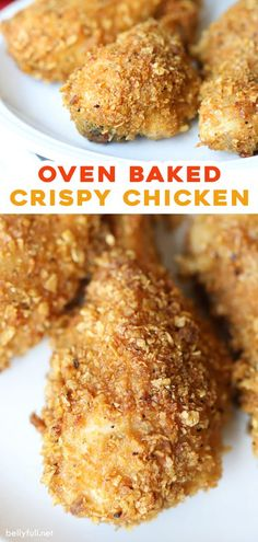 This Crispy Corn Flake Oven Baked Chicken recipe is super easy needing only a few pantry staples, and resulting in tender juicy chicken drumsticks with a crunchy semi-sweet corn flake coating. Chicken Drumstick Recipes, Oven Chicken Recipes, Sausage Recipes, Cooking Recipes, Recipe Chicken, Easy Recipes, Fried Chicken Drumsticks, Oven Fried Chicken, Oven Baked Corn