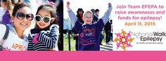 The National Walk for Epilepsy is April 11th, join Team EFEPA!
